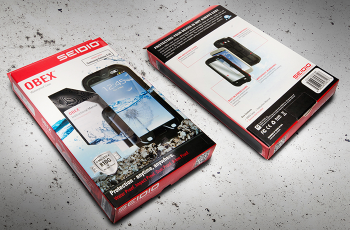 obex water proof case packaging design